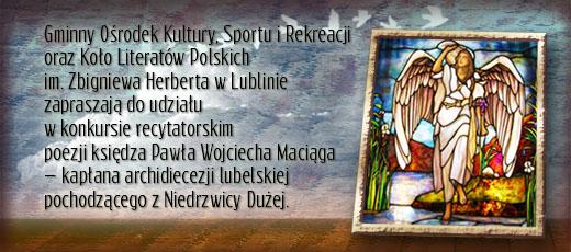 Konkurs recytatorski poezji księdza Pawła Wojciecha Maciąga