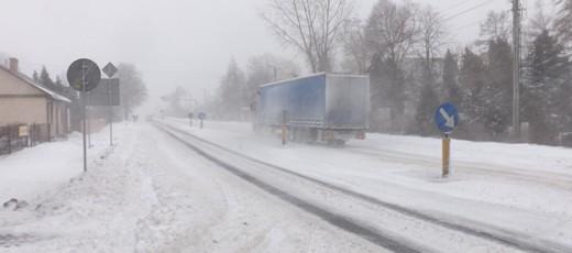 Ostrzeżenie o zamieciach śnieżnych - 18-19.01.2019